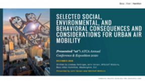 Selected Social, Environmental, and Behavioral Consequences and Considerations for Urban Air Mobility
